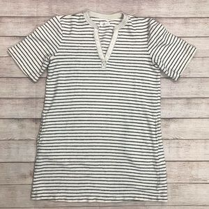 Lou & Grey Terry Striped Dress size Small